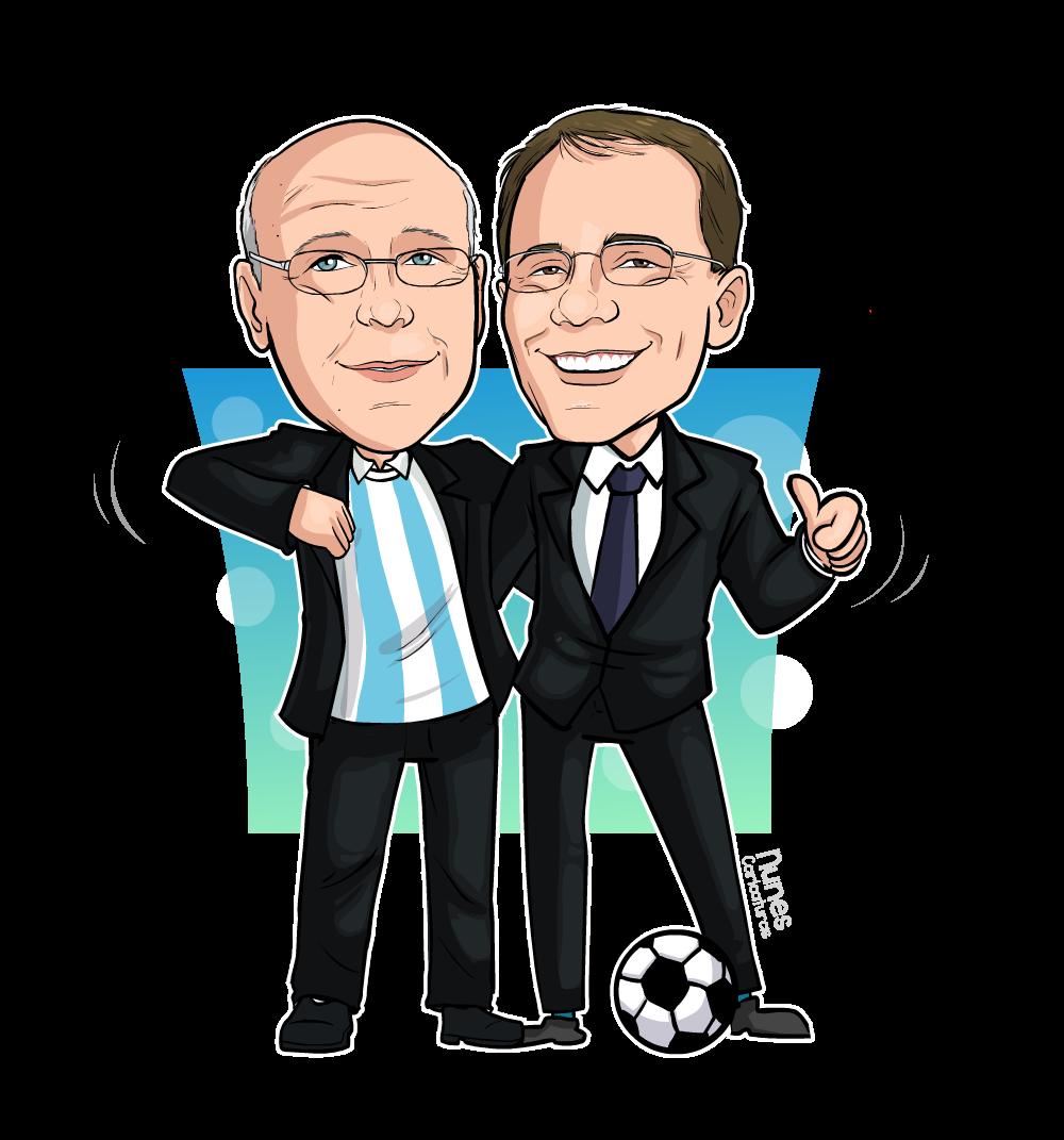 Caricatura com dois homens