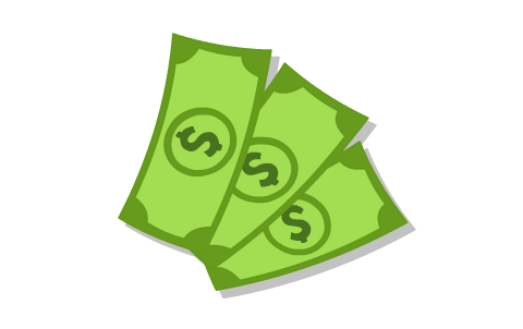 Desenho de notas de dinheiro